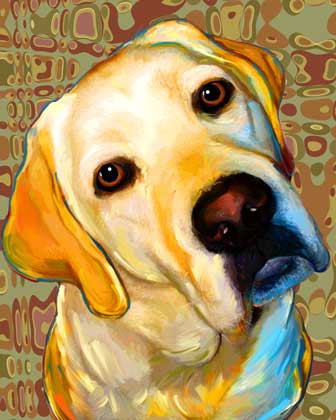 The dog in world some art pictures of dog for Dog painting artist
