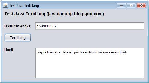 Class Terbilang Dan Implementasinya Pada Swing Di Java