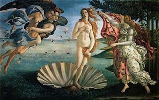 Fotografia do quadro O Nascimento de Vénus
