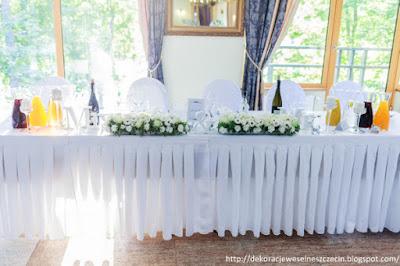 Dekoracja weselna w Pałacu w Maciejewie w beli