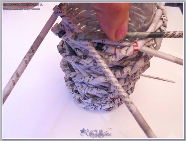 урок плетения спиралью