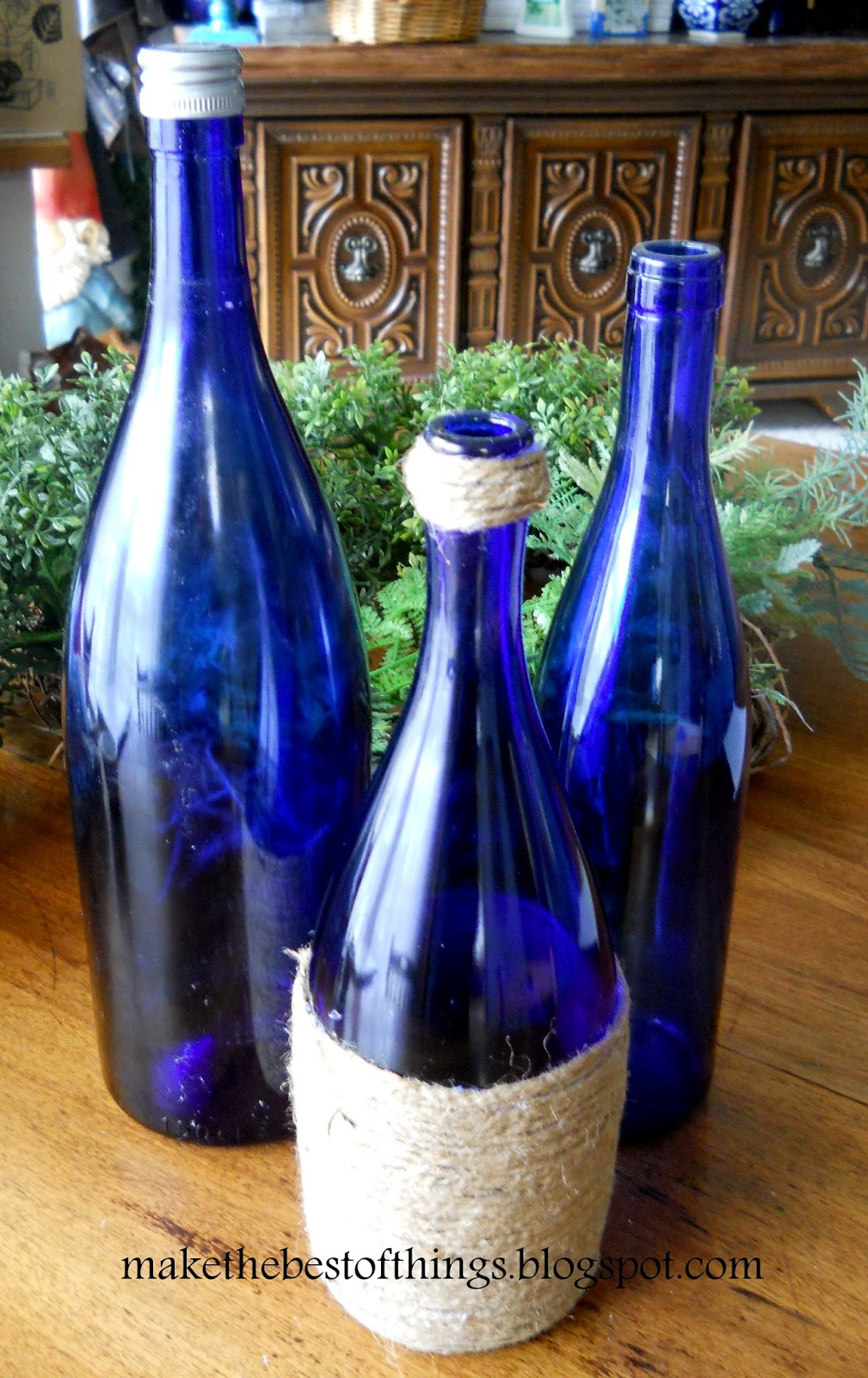 Make the best of things save beautiful bottles with for How to use wine bottles for decoration