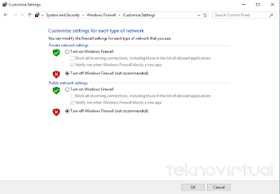 Cara Menonaktifkan Windows Firewall Pada Windows 10 7