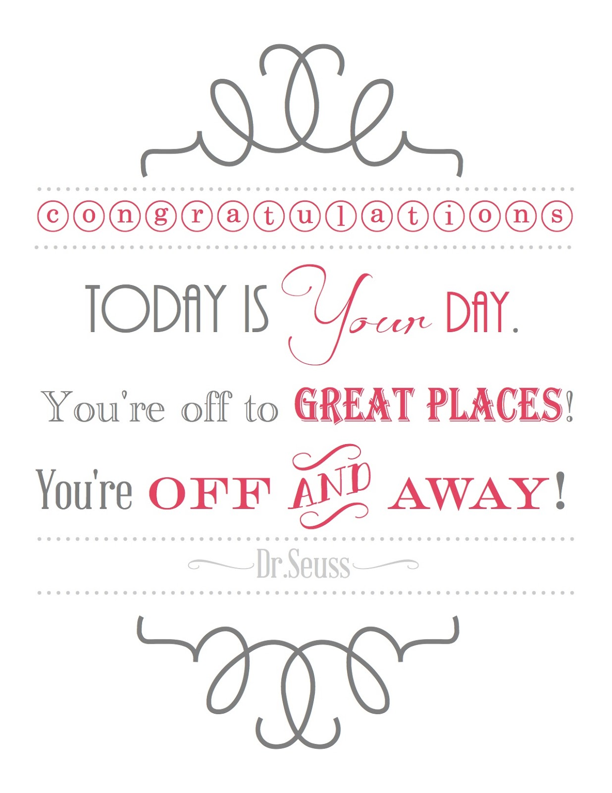 Dr Seuss Friendship Quotes Blissful Roots Drseuss Graduation Printable