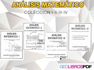 analisis matematico coleccion 4 libros