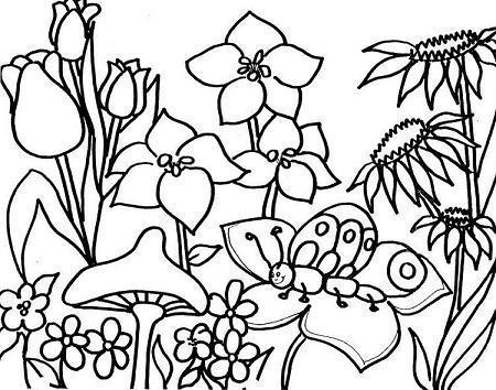 Dibujo del Día de la Primavera para niños para colorear pintar