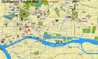 Guangzhou tourist map