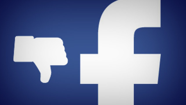 Picture of Facebook logo and facebook dislike button