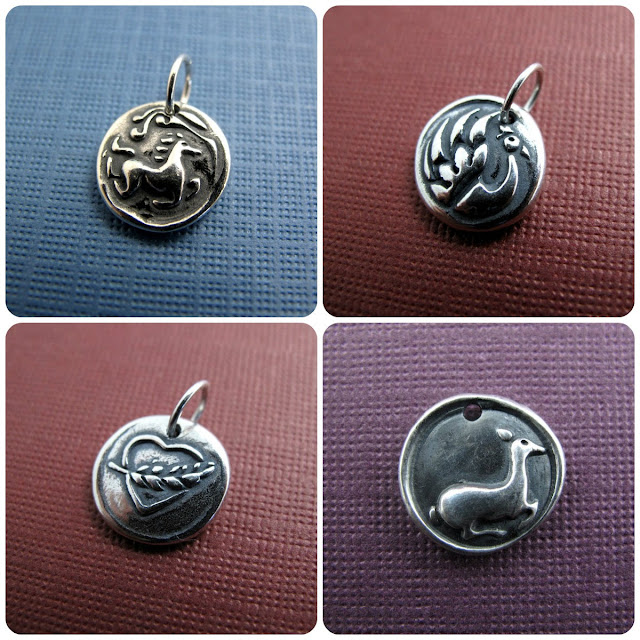 Sterling Silver Charms by Beth Hemmila of Hint Jewelry