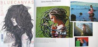 Obra publicada en la revista norteamericana de artes Bluecanvas