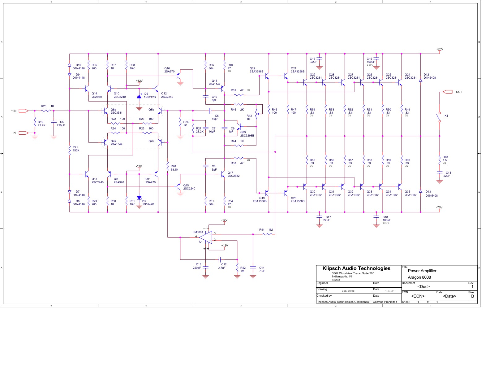 Audio Investigations November 2011 25w Classa Power Amplifier Circuit Diagram Supreem Circuits