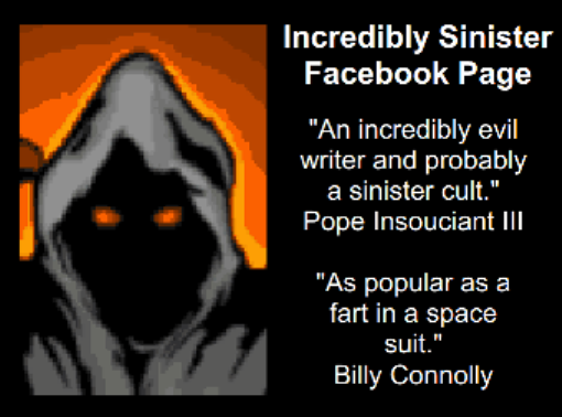 NOT QUITE SO EVIL BUT STILL FAIRLY EVIL FACEBOOK PAGE