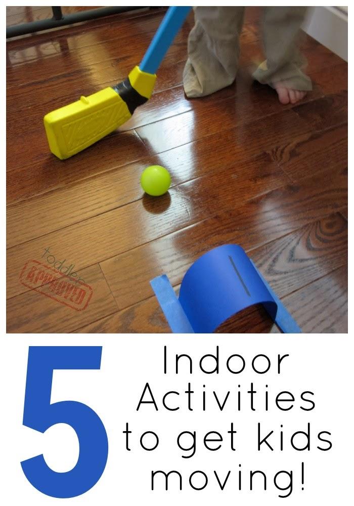 Toddler approved 5 indoor games to get kids moving for Indoor crafts for kids