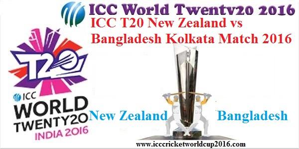 ICC T20 New Zealand vs Bangladesh Kolkata Match Result 2016