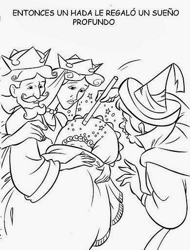 Cuentos infantiles: Dibujos de la Bella Durmiente para colorear ...