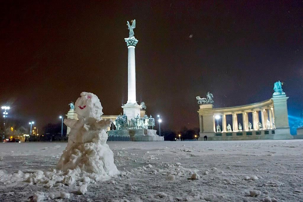 időjárás, Magyarország, Budapest, Hősök tere