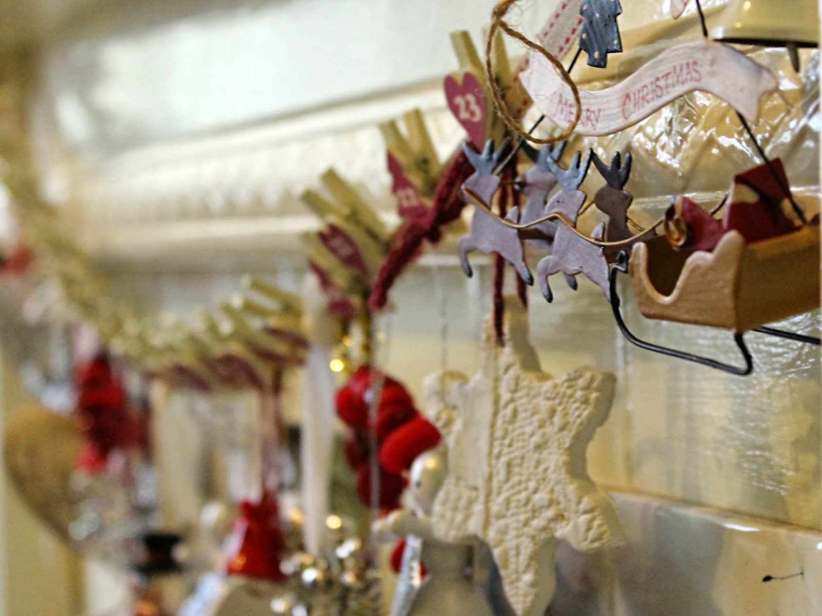 Diy shabby chic clay christmas ornament wheelingalong24 - Shabby chic christmas decorations to make ...