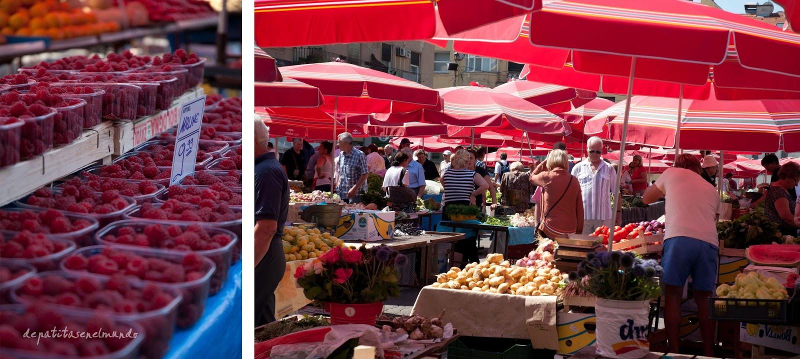 Mercado de Dolac en Zagreb