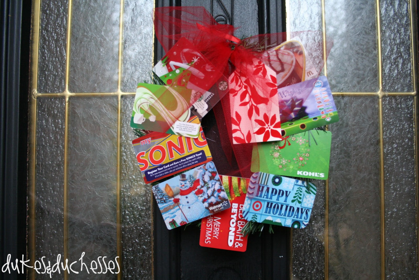 Gift Card Wreath Teacher Gift - Dukes and Duchesses