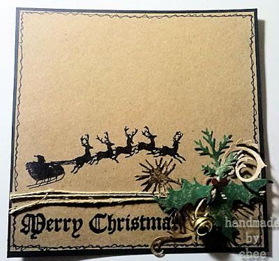 Visible Image Christmas stamps sleigh silhouette santa