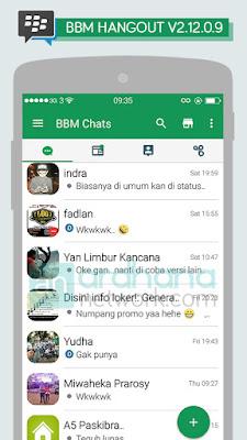 Preview BBM Hangout V2.12.0.9
