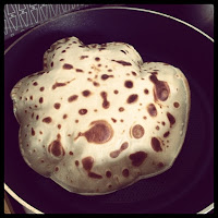 i've never actually had a pancake do that before... it went all whoopee cushion like... weird!