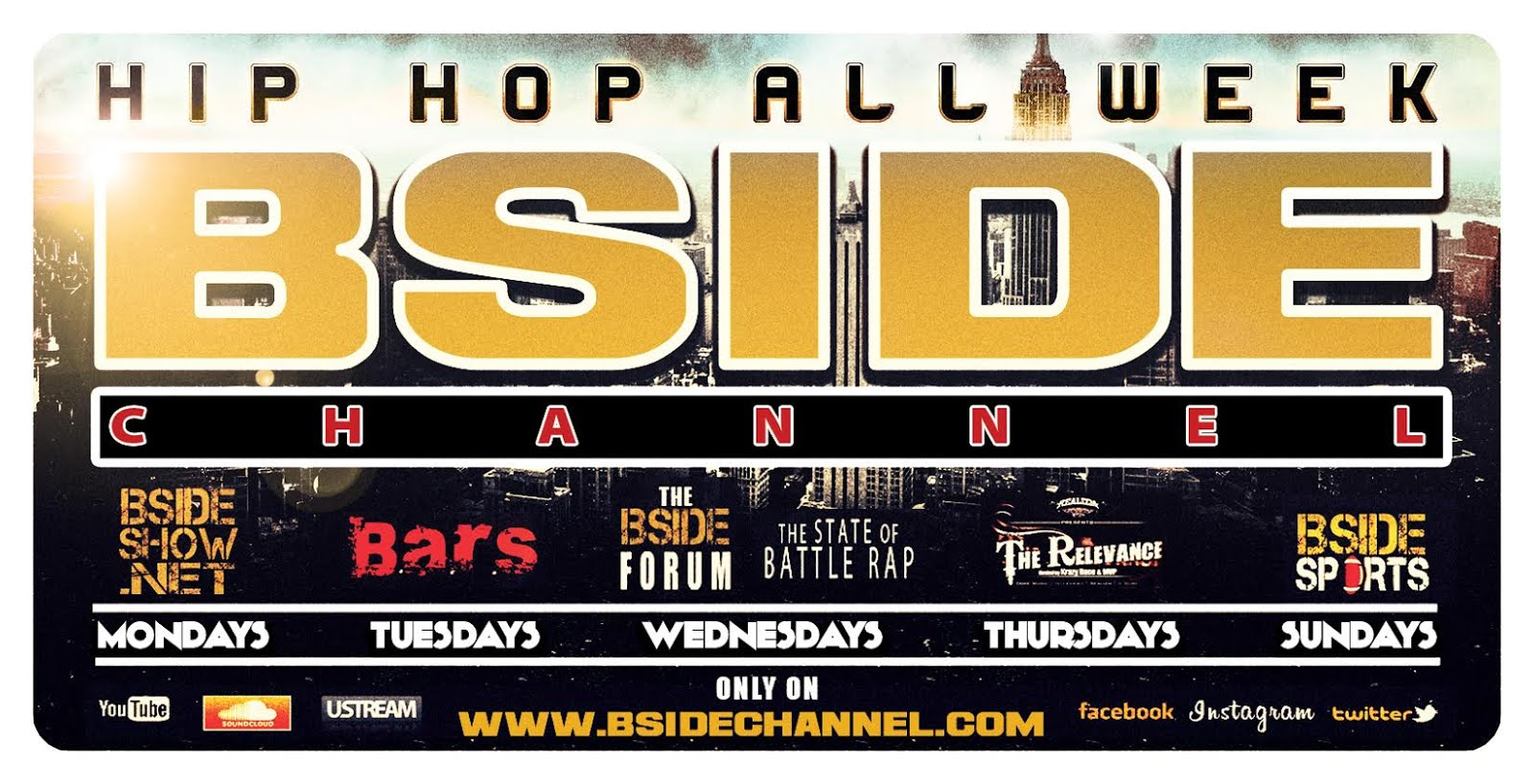The Relevance is LIVE every otherThursday of the month from 9pm-11:30pm PST on www.bsidechannel.com