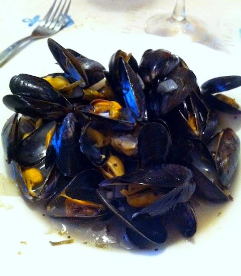 Moules Marinieres a la Keith Floyd for dinner