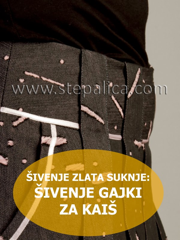 Šivenje Zlata suknje: #6 šivenje gajki za pojas