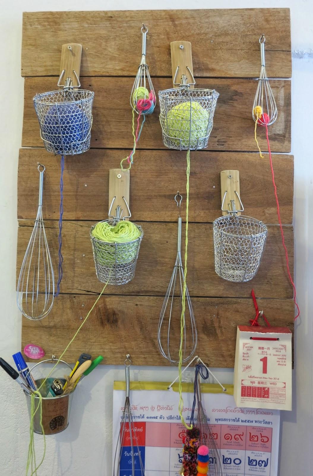 ByHaafner, crochet shop, Bantaktor, Chiang Mai, workspace