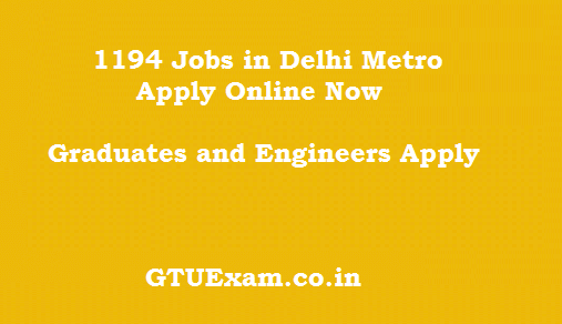 [Apply Online] DMRC Recruitment 2014 - 1194 Posts Recruitment