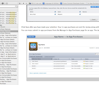 XCode's In-App-Purchase documentation - screenshot