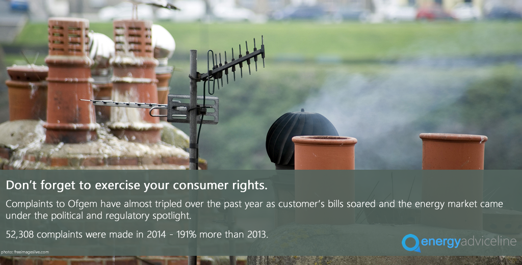 Complaints & energy bills continue to rise