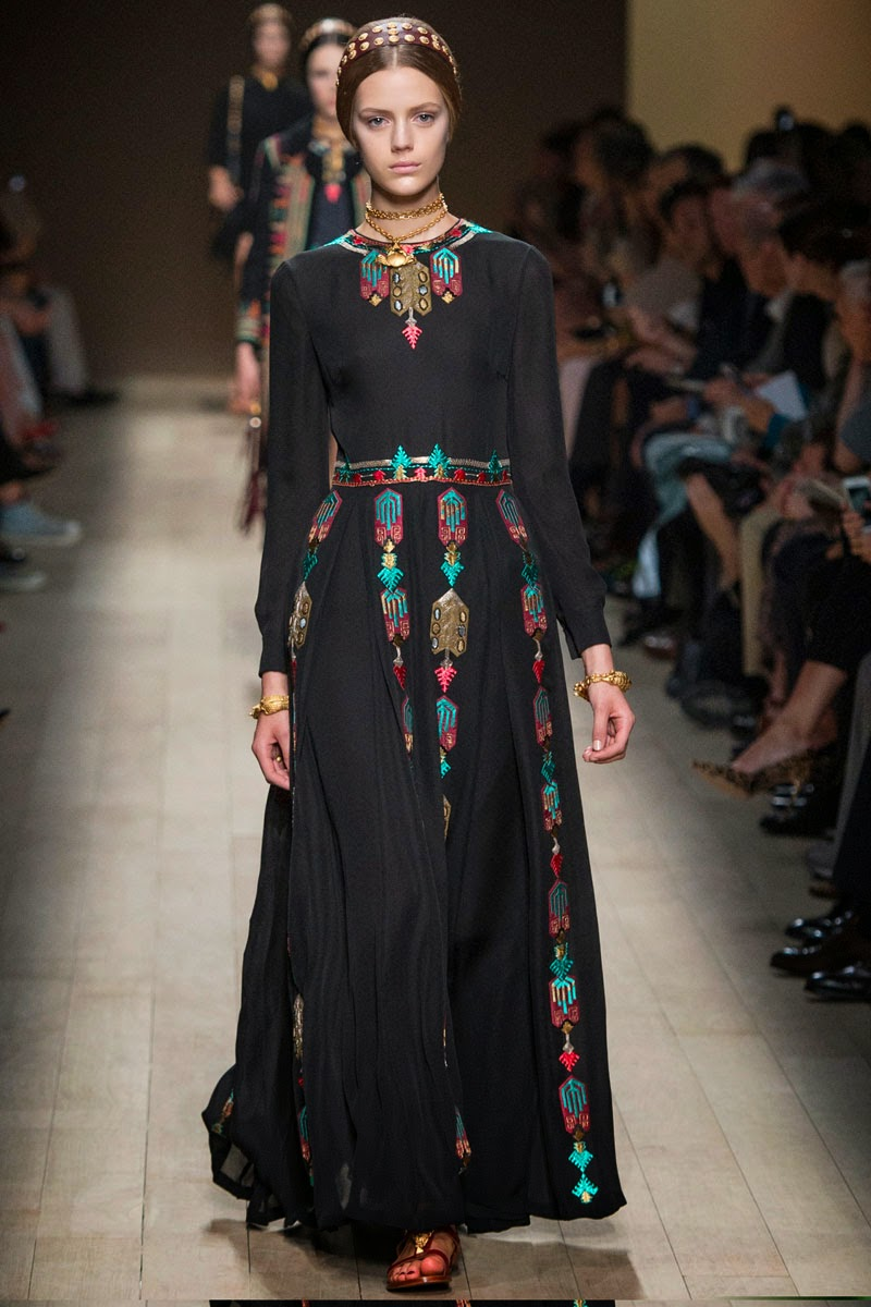 Valentino Spring 2014 Collection: Haute Couture Goes Modest. Long ...
