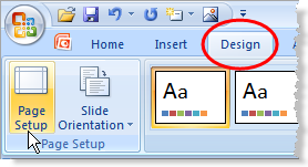 Set Widescreen in PowerPoint 2007 - 1