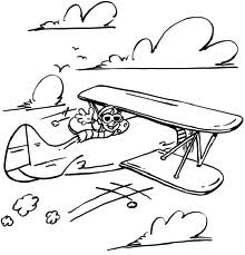 Printable Airplane Coloring Sheet  For Kids Boys Drawing a Plane