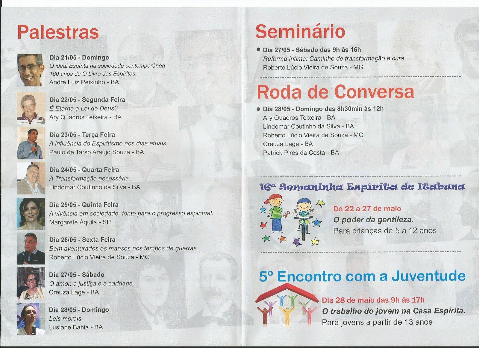 """""""Leis Morais"""" é tema central da 47ª Semana Espírita de Itabuna promovida pelo ICEI"""