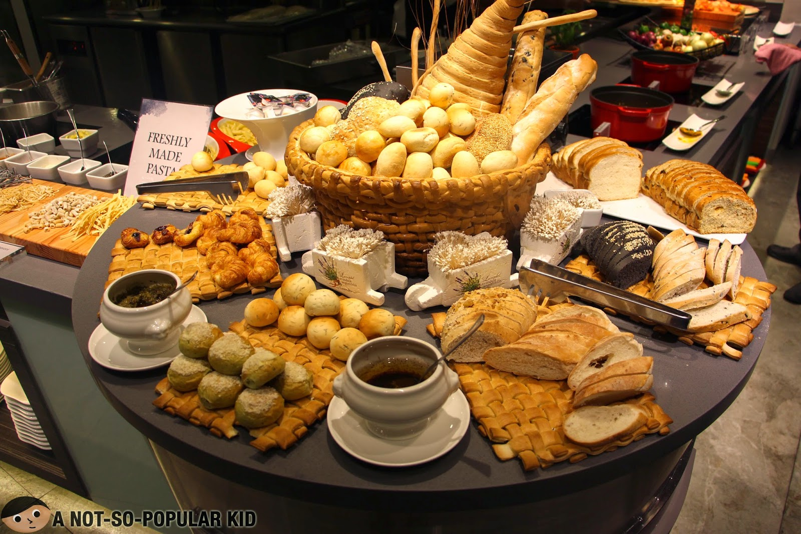 The bread selection in Vikings SM Megamall