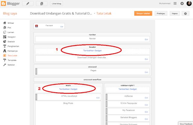 trik modifikasi template standar blogger agar mudah pasang adsense | tutorial blog dan adsense pemula
