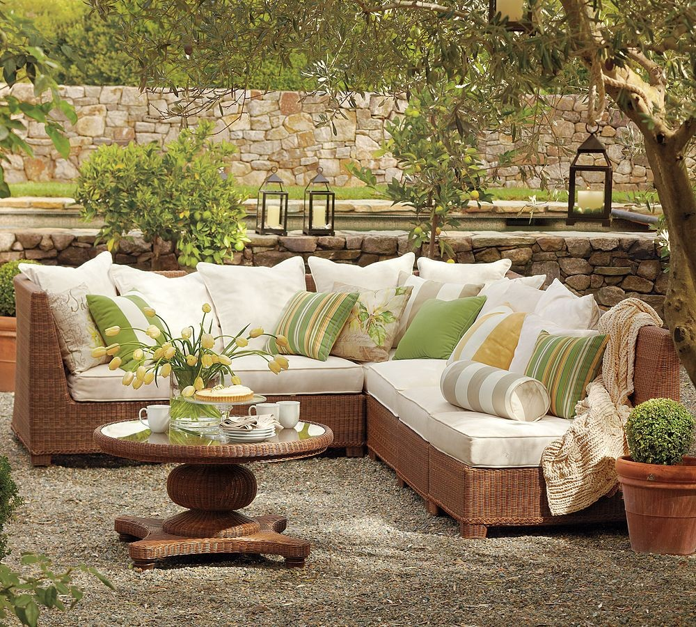 Beautiful And Modern Outdoor Furniture Garden Ideas: Outdoor Garden Furniture Designs By Pottery Barn