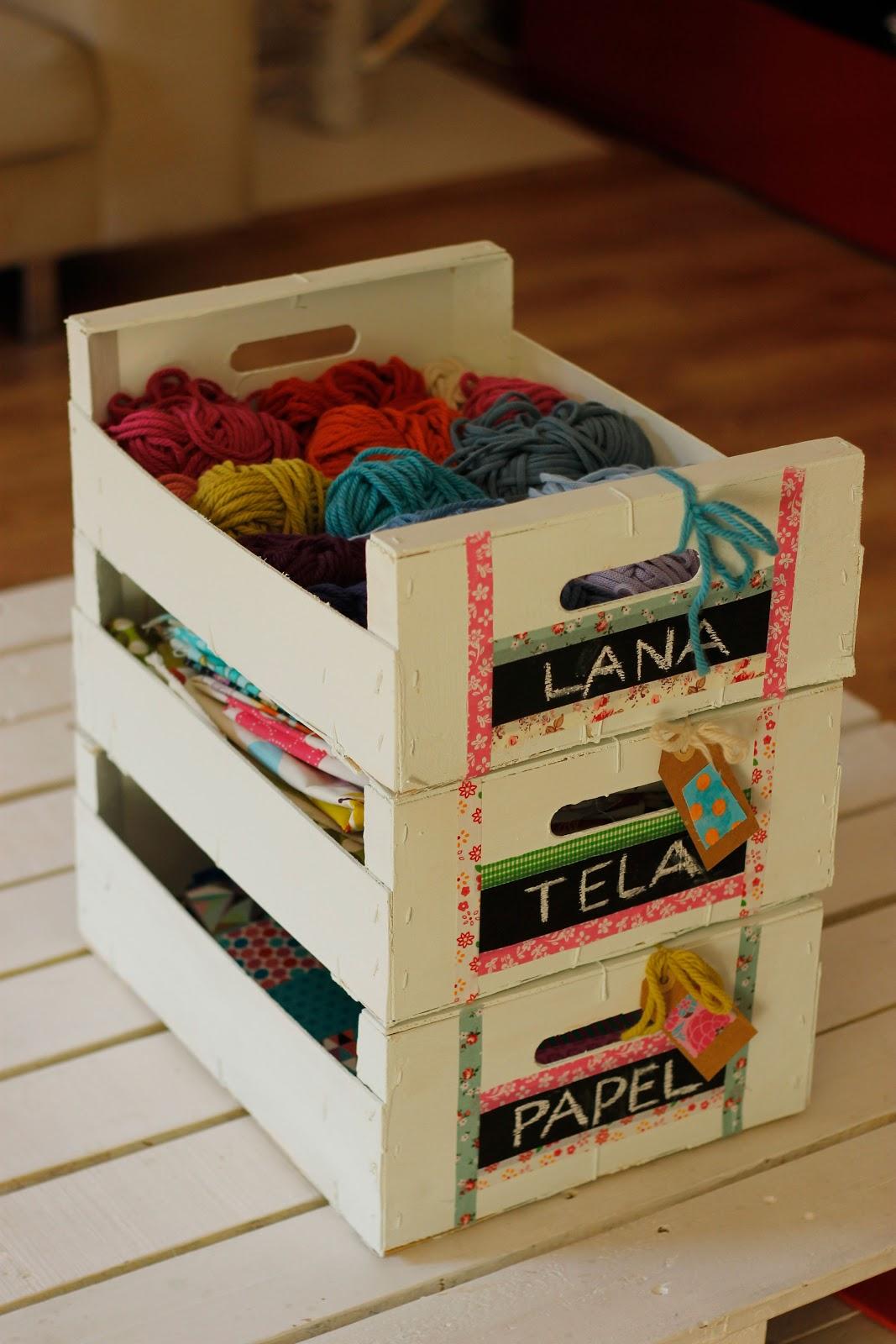 Hilocoqueto cajas de fruta recicladas - Manualidades con cajas de frutas ...