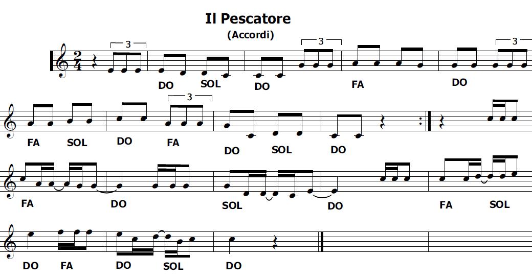 Musica e spartiti gratis per flauto dolce il pescatore fabrizio de andr - Aggiungi un posto a tavola accordi ...