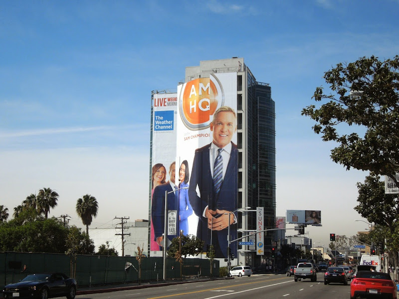 Giant Sam Champion AM HQ launch billboard Sunset Strip