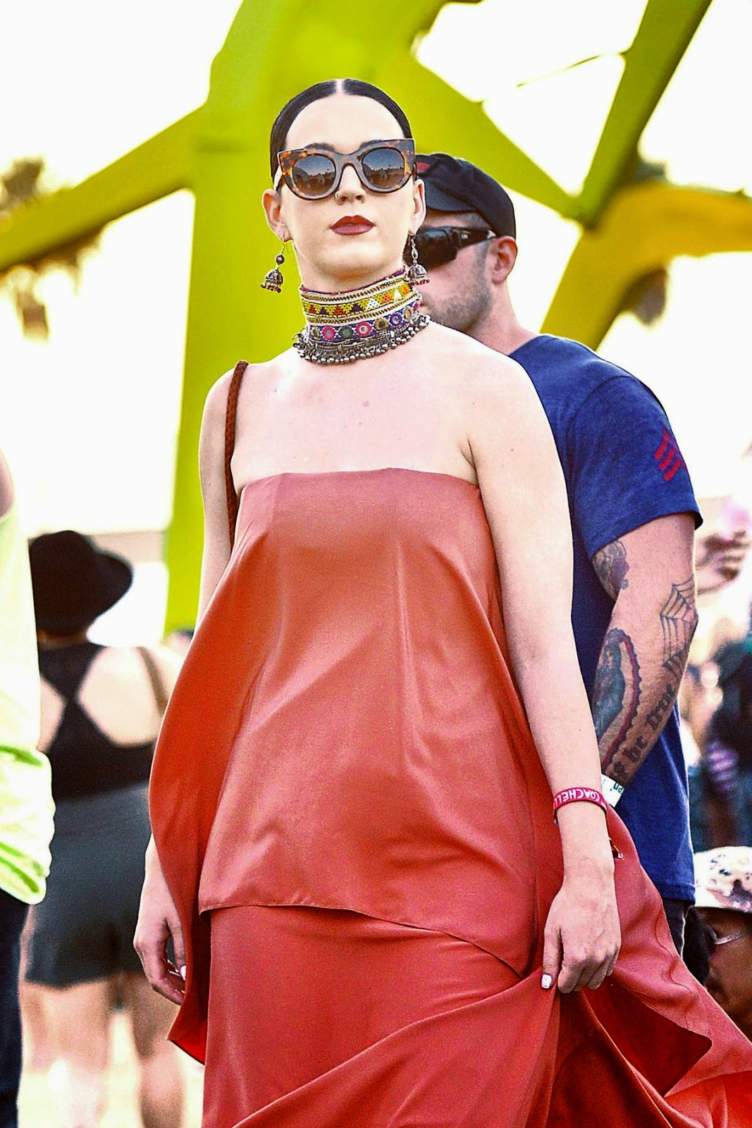 Musician, Actress @ Katy Perry spotted at Coachella with friends in Indio