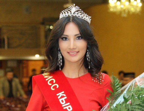 Miss Kyrgyzstan 2013 winner Zhibek Nukeyeva