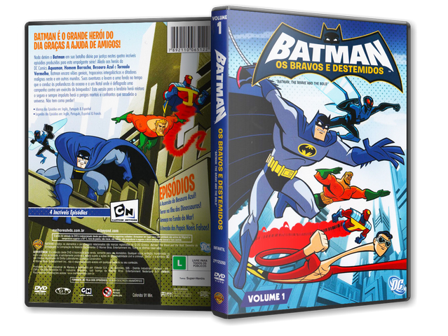 Capa DVD Batman Os Bravos E Destemidos Volume 1