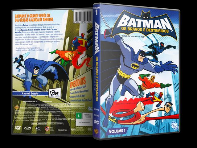 Capa DVD Batman Os Bravos E Destemidos Volume 1