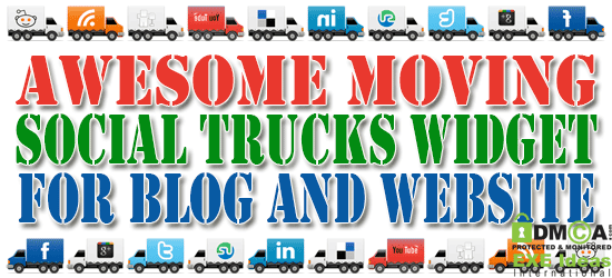 Awesome Moving Social Trucks Widget For Blog And Website
