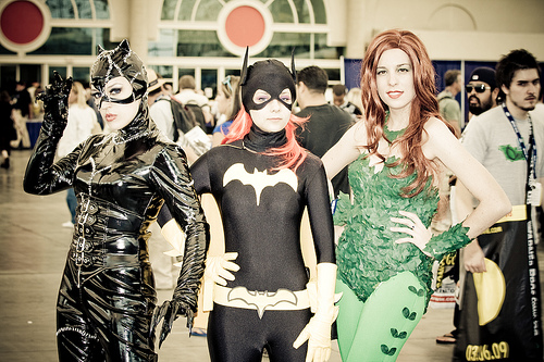 catwoman batgirl poison ivy