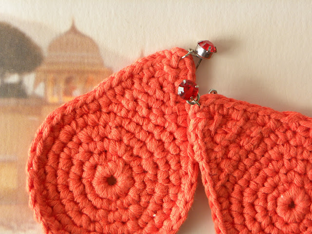orecchini, colori estate, tangerine tango, le gille, earrings
